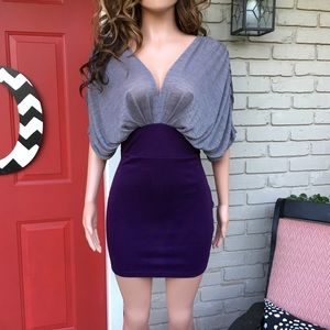 Dresses & Skirts - Gray purple body con dress
